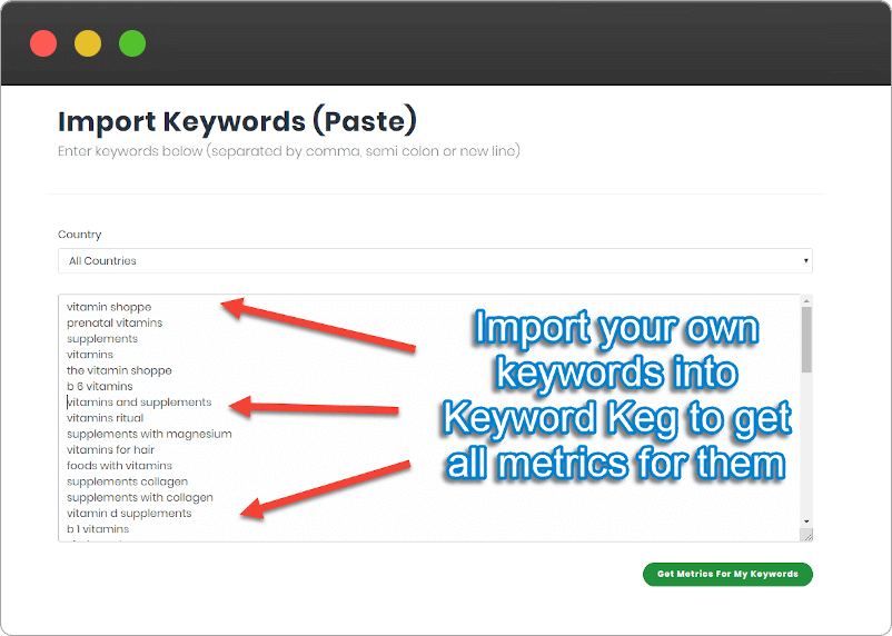 Paste Keywords